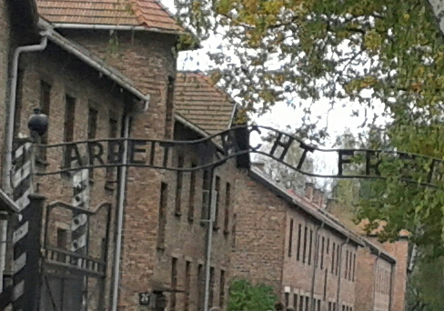 entrance to Auschwitz (To work is to live)
