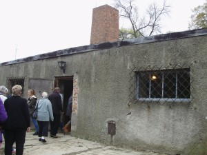 "Entrance to the ""Showers"" (gas chamber)"
